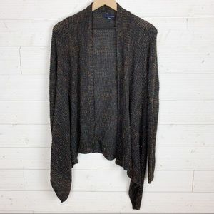 AEO Multi Color Knit Open Front Cardigan